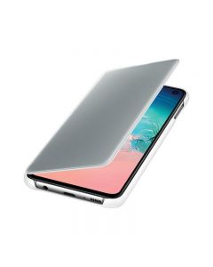 Samsung - Clear View Cover voor Samsung Galaxy S10e - Wit